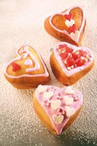 מתכון להכנת סופגניות לב ורוד