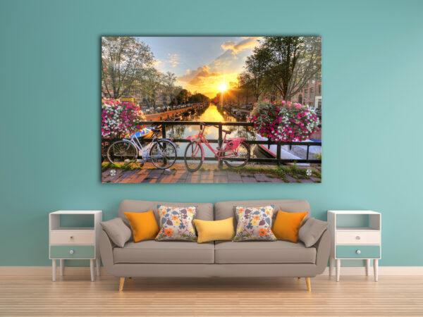 על גשר באמסטרדם זכוכית