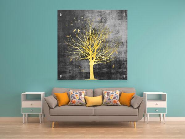 עץ אור הלילה זכוכית יחיד