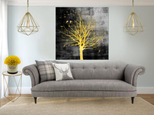 עץ אור הלילה קנבס יחיד