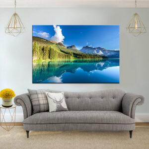 האגם המבריק קנבס יחיד