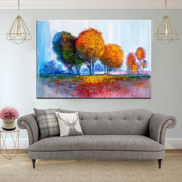 יער הצבעים קנבס יחיד